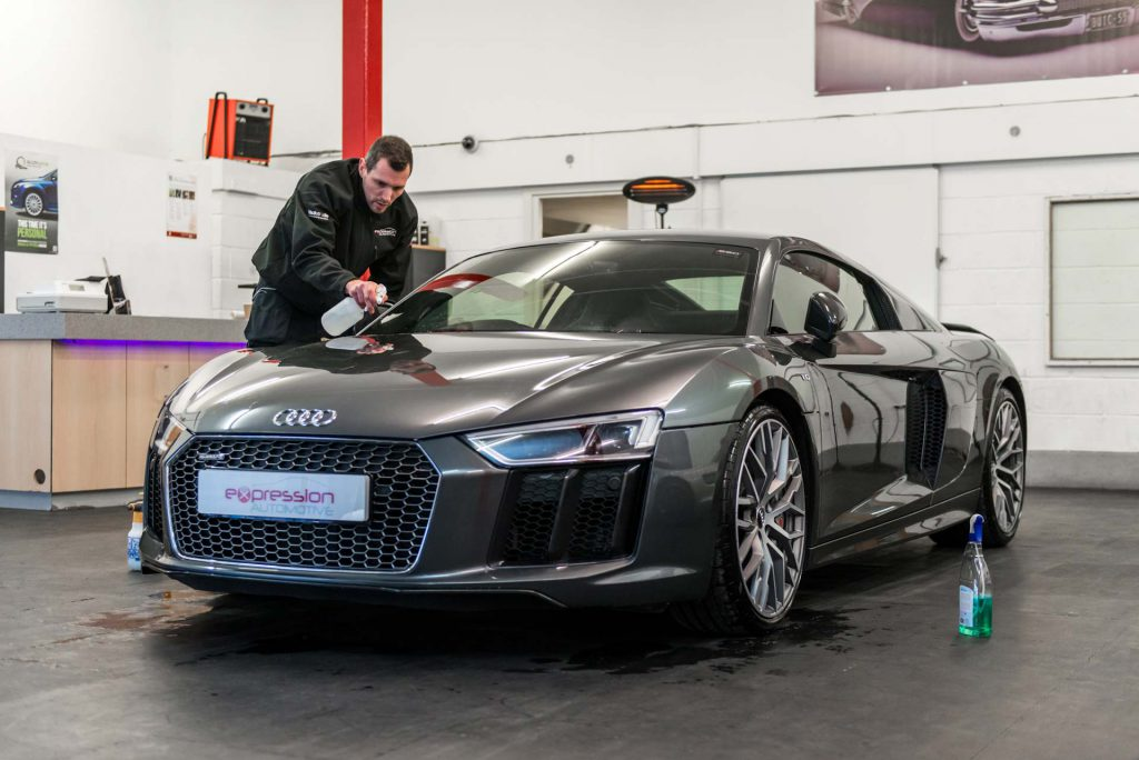Paint Protection Film fitted on an Audi R8 by Expression Automotive in Yorkshire
