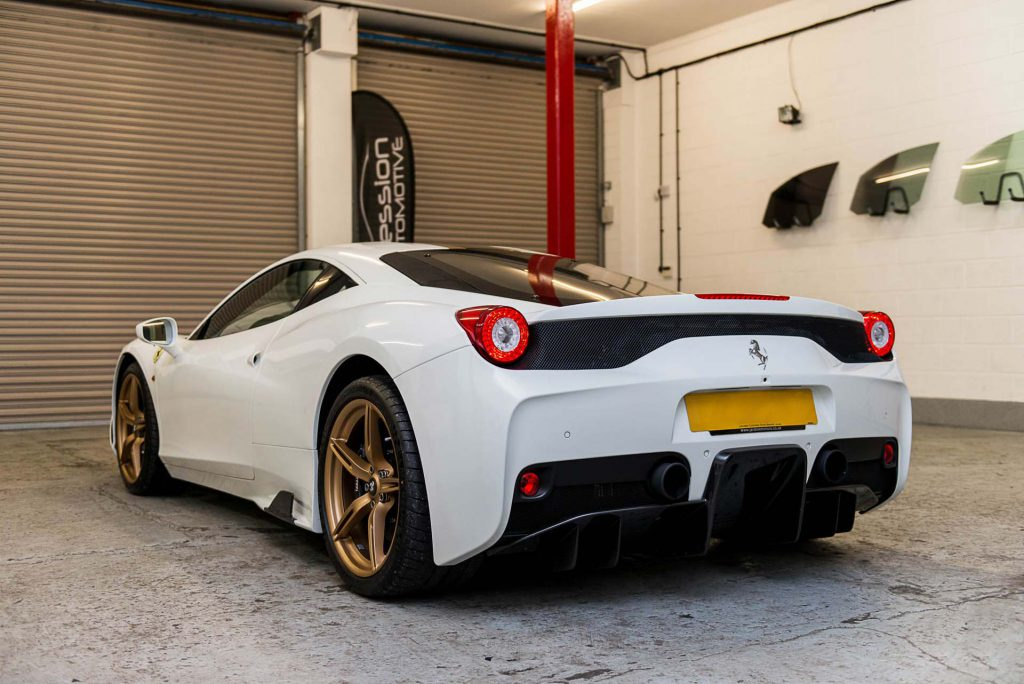 Window Tints fitted to a Ferrari F458 Speciale by Expression Automotive