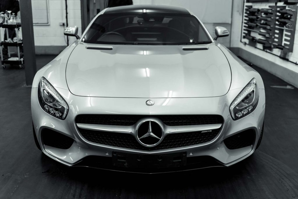 Window Tints fitted to an AMG GTS by Expression Automotive in Bradford
