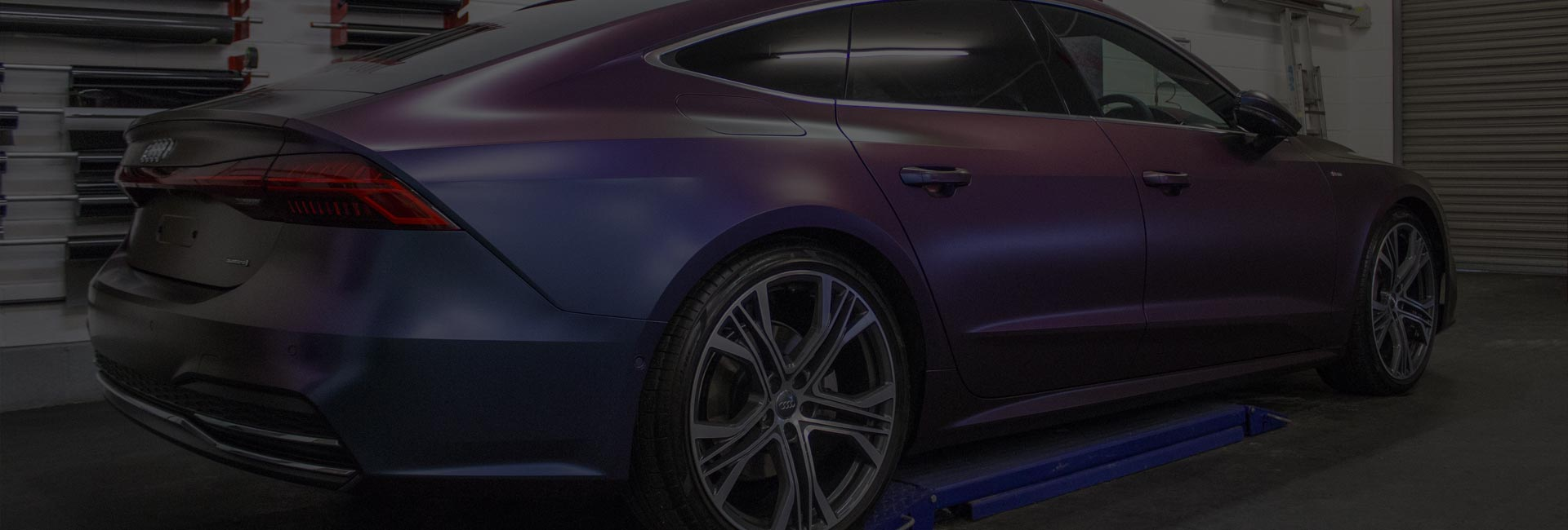 Audi A7 Full Vinyl Wrap Colour Change Gallery - Fitting Progress Expression Automotive