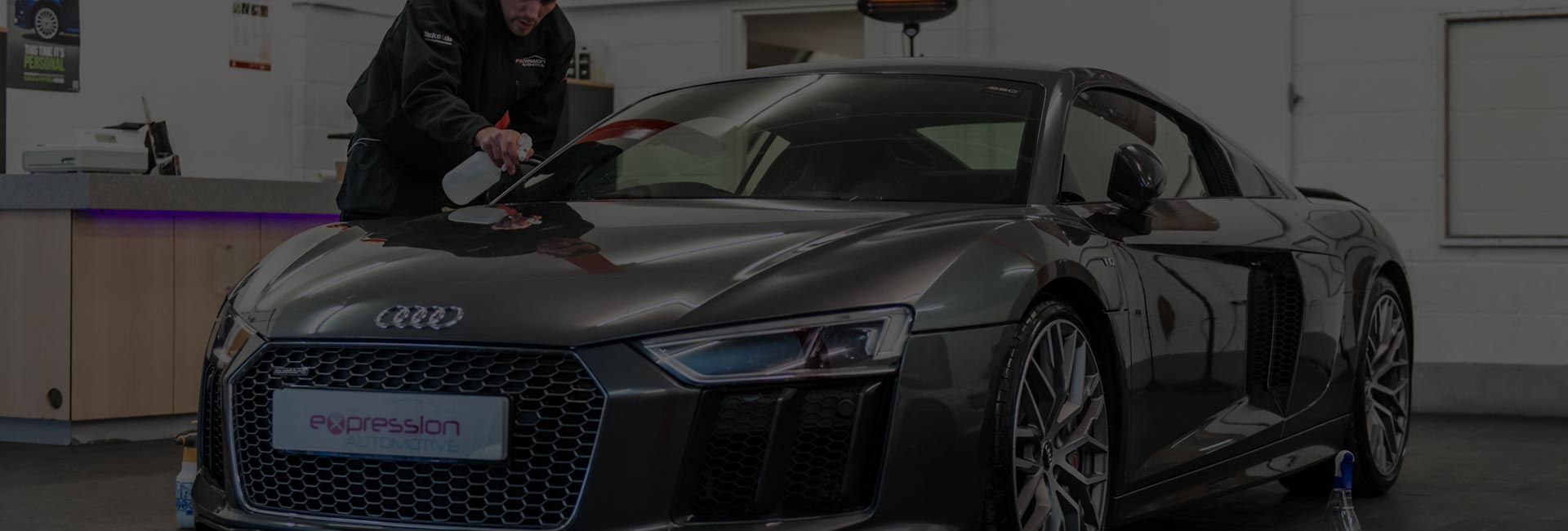 Audi R8 Paint Protection Film Fitting by Expression Automotive, Bradford, Leeds, Baildon