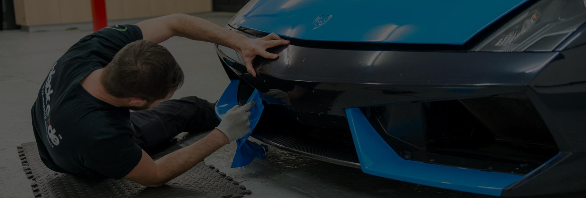 Lamborghini Gallardo Full Vinyl Wrap Colour change to Baby Blue - Installation Gallery